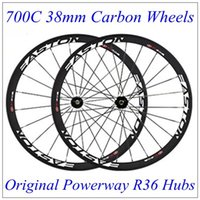 best rear hub - Best Selling C mm Depth mm Width East Full Cabon Wheels with Original Black Powerway R36 Hubs Straight Pull Spokes