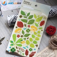 Wholesale New Funny Leaf Style Deco PVC Sticker Mobile Phone Stickers Decoration Label
