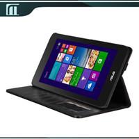asus vivo tablet - Luxury Flip PU Leather Case for Asus Vivotab Note M80ta Vivo tab Note Case Hand inch Tablet PC Folding Cover Black Color