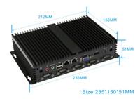 Wholesale HCIPC B102 HCSN2415 Intel Atom D2550 N2800 Intel Atom D2550 NM10 VGA HDMI DDR3 Giga LAN USB2 COM DC V