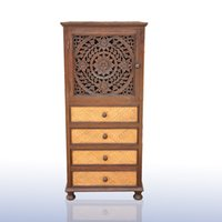 antique bookcase cabinet - Southeast Asia solid wood carved upscale retro cabinets Drawers decorative ornaments shoe bookcase Entrance Cabinet Features