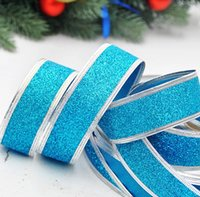 christmas crafts - 2015 New christmas decoration craft supplies x3cm luxury and onion powder Christmas colored ribbon colors optional