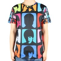 band t shirt designs - Cool custom design popular rock band t shirt printed casual round neck the beatles t shirts men size S XL