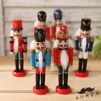 Wholesale 6Piece Cute CM The Nutcracker Soldier Puppet Zakka Home Furnishing Ornaments Kids Gift