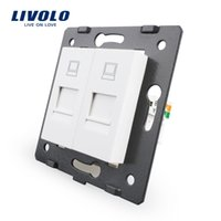 Wholesale Sweet home Manufacture Livolo The Base Of Socket Outlet Plug For DIY Product Gangs Computer Socket VL C7 C