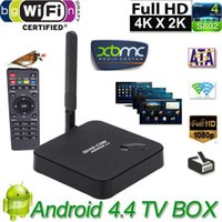 Wholesale DLNA XBMC Quad Core Android TV box GHZ G G ROM F6 Rockchip D Smart Media Player H Wi Fi Tv Receivers