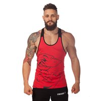 animal training - Men s vests bodybuilding apparel gym shark training deep muscles cotton vest men