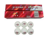 Wholesale DHS star pingpong balls white pack