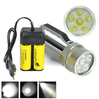 battery charger meters - 9000LM Diving Flashlight Meter x XM L2 LED Dive Torch Flash Light L2 Waterproof Lantern x26650 Battery Charger
