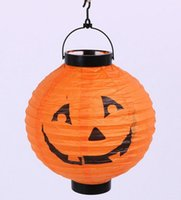 Cheap Party New Halloween Decoration Pumpkin Light Holiday Party Decor Pumpkin Hanging Paper Lantern Lamp Party Supplies
