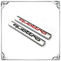 audi quattro decal - Auto Car D Mental QUATTRO Emblem Fender Trunk Badge Decal Sticker For AUDI A1 A3 A4 Q5