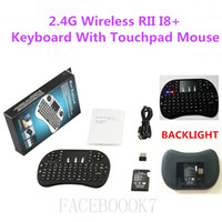Wholesale 20PCS G Wireless Rii Mini i8 Backlight Keyboard Mouse Combo Multi touch Pad Android Smart TV Box Mini PC Xbox360 PS3 HTPC IPTV