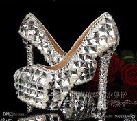silk slippers women - 2015 New Arrival glass slipper wedding shoes bridal pearl rhinestone high heels shoes party shoes wedding shoes photographed woman