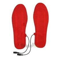 Cheap Wholesale 1 Pair USB Electric Powered Heated Insoles For Shoes Boots Keep Feet Warm free shipping 1504