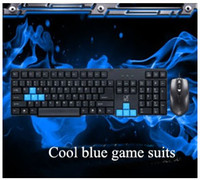 best business mouse - Hot selling cool blue game suits wired USB mouse and stylish keyboard with High quality and value which is best for business