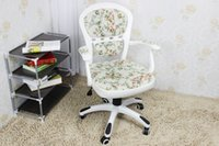 Wholesale European pastoral style computer chair chair swivel chair student staff household white book desk and chair