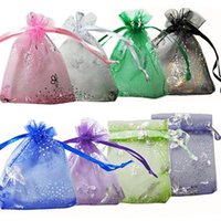 Wholesale 2015 x9cm X4 Inch Mix Color set Organza Jewelry Wedding Gift Pouch Bags for Party Holiday Christmas Gift LEM