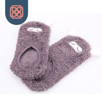 alpaca slippers - Woman socks harajuku casual Sock Slippers kawaii alpaca and bear socks