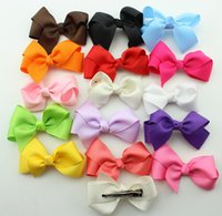 baby boutiques sale - 100 hot sale Korean INCH Grosgrain Ribbon Hairbows Baby Girl Accessories With Clip Boutique Hair Bows Hairpins Hair Ornaments HD3201