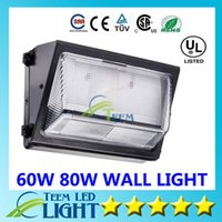 Wholesale Oversea warehouse stock CREE LED W W led wall pack Outdoor Wall Mounted light meanwell driver DLC ETL Listed V led lightig