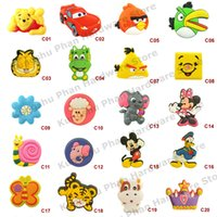 pvc cabinet doors - 8pcs Cute Cartoon Children Bedroom Furniture Cabinet drawer Dresser Knobs Door pull Handles Soft PVC Handles for Kids