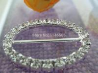 Wholesale New mm mm inner bar shiny oval shape rhinestone ribbon sliders weddding buckle for wedding
