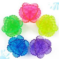 Wholesale Magic Clear Laundry Balls Fabric Clothes Washing Cleaning Tool Pvc Personal Care Ball Color Random Drop Shipping HG