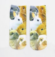 Wholesale 3D Socks Print Lovely Animals Panda Fashion Women Low Cut Ankle Socks Contrast Colors Meias Casual Cute Character High quality