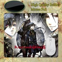 Wholesale Cartoon Japanese Anime Black Butler Kuroshitsuji Customized Rectangle Silicon Gaming Mousepad Size mmX180mmx2mm