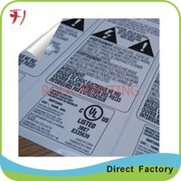 aluminium laminated - Customized Self adhesive waterproof glossy laminated aluminium paper sticker