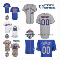 baseball team patches - 30 Teams Personalized New York Mets Authentic Jersey Custom Baseball Jerseys Embroidery Logo Stitched Jersey World Series Patch