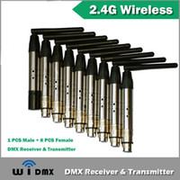 Wholesale 9XLOT G Wireless DMX Signal Controller For Stage Par Light DMX512 For Stage Par Light PC Transmitter PC Receiver
