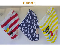 Wholesale 2015 New Cotton cartoon Baby Triangle Bibs Children Snap Bibs Mom s Care Bibs free ship