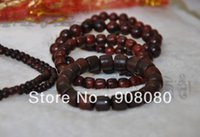 big red drum - BRO806 Indian Big Leaf Red Sandalwood Prayer Rrosary mm Natural Wooden drum beads Man Wrist Mala Bracelet