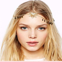 Wholesale New arrival contracted fashion Women s flower leaves tassel hair band personality