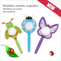 Wholesale Cute Mini Magnifier for children kids insect design mix up kids magnifying learning toys kindergarten school supply gift for children