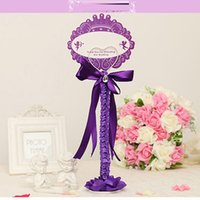 Wholesale Elegant Simple Style Stickers Labels Tags Seats Clip With Ribbon Beading Bows Wedding Supplies Package Sales Seats Clips