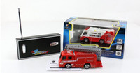 ambulance toys - 1 WL toys Mini RC Remoto contorl racing Car fire Truck Ambulance Bus Toy Gift