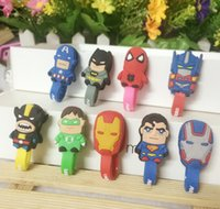 Wholesale 2015 Cartoon animal shape winder cable bobbin winder hone holder Silicon rubber button reel RXQ7