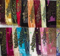 Wholesale Peacock velvet shawl