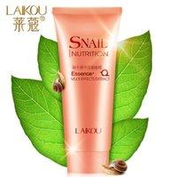 Wholesale Levin Kou Korean snail cream moisturizing Whitening Oil Control Cleanser Blackhead Exfoliating Cleansing Foam female