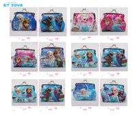 3d holiday gifts - Frozen Princess Anna Elsa Coin Purse with iron button Girls D Cartoon Anna Elsa Olaf shell bag wallet Purse Gift For Holidays Christmas