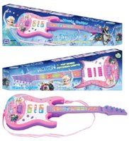 Wholesale New Frozen Elsa Toy Magic Flash Guitar Musical Toy Light Sound Xmas Gift