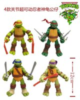 turtle - Christmas gift Ninja Turtles PVC toys Plastic dolls Classic Collection action Figures toys set TMNT Teenage Mutant Ninja
