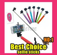 Wholesale 3in1 Bluetooth Wireless Remote Shutter Camera Control Self Timer Monopod Phone Holder for iOS Android With Retail Package For Iphone