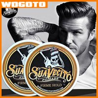 Wholesale Top Quality Suavecito Pomade Hair Oil Strong style restoring ancient ways is big skeleton hair slicked back Professional hair wax mud