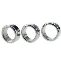 Wholesale Metal Penis Rings Male Cockrings Stainless Steel Cock Ring Metal Ball Stretcher Chastity Device bdsm Sex Delay Love Ring For Men Sex Toys