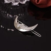 Wholesale trade jewelry fashion personality section metal moon old hairpin side clip hair accessories