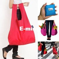 Wholesale New Fashion Candy Foldable Tote Shopping Bags Eco Friendly Resusable Folding Shopper Bag Waterproof Storage Reusable Pouch colors mixed