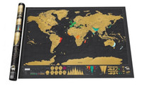 Wholesale Piece In Stock Deluxe Scratch Map Deluxe Scratch World Map cm